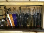 My songwriting brushes