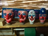 Heads painted