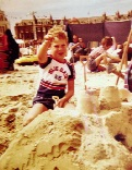 Me on holiday as a child in Weymouth